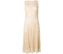 perforated midi dress