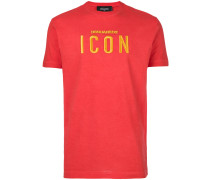 "T-Shirt mit ""Icon""-Stickerei"