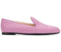 Loafer aus Intrecciato-Leder