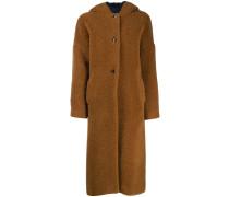 Einreihiger Mantel mit Kapuze