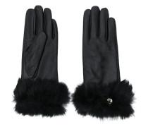 faux fur trimmed gloves