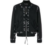 Pin embroidered bomber jacket