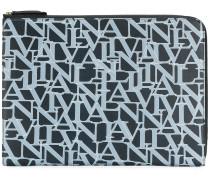 logo printed laptop bag