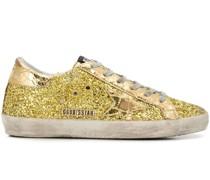 'Superstar' Sneakers mit Glitzer