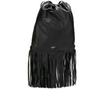 drawstring fringe backpack