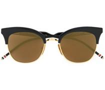 Sonnenbrille aus Titanium mit 18kt Gold
