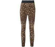 Leggings mit Leoparden-Print