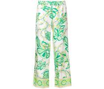 P.A.R.O.S.H. cropped pyjama trousers