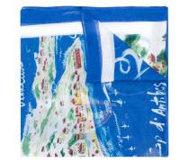 Schal mit 'Cote D'Azure'-Motiv