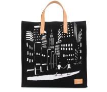 Shopper mit Illustration