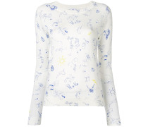 Pullover mit Doodle-Print