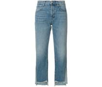 Cropped-Jeans mit asymmetrischem Saum