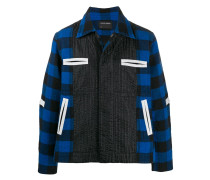 checked boxy jacket