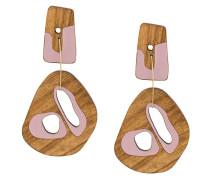 Holzohrringe mit Design-Anhänger