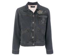 'Ensley' Jeansjacke mit Stickerei