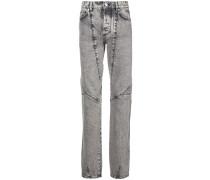 Gerade Jeans mit Acid-Wash-Effekt