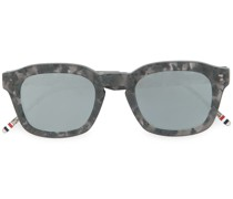 marble effect square sunglasses