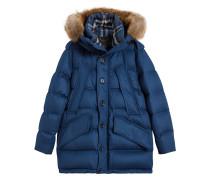 cashmere detachable fur trim parka