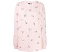 Sweatshirt mit Schwalben-Print