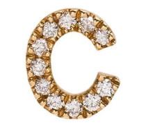 18kt 'C' Gelbgoldanhänger mit Diamanten