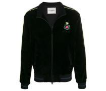 Velours-Jacke mit Reißverschluss