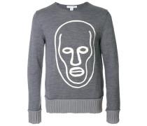 Pullover mit Gesichts-Print