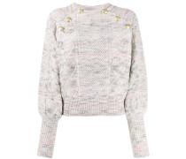 Pullover mit geprägten Knöpfen