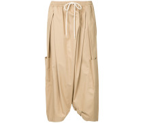voluminous twill trousers