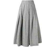 checked full skirt
