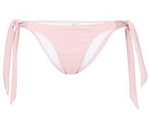 textured side tie bikini bottom