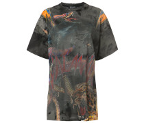 Oversized-T-Shirt mit Tiger-Print