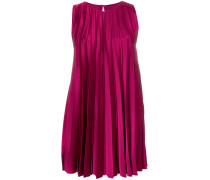 pleated flared mini dress