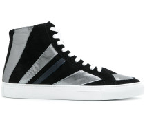 striped hi-top sneakers