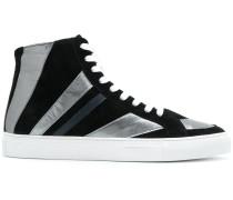 striped hi-top sneakers