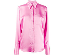 Bluse mit Satin-Finish