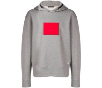 'Face' Kapuzenpullover mit Patch