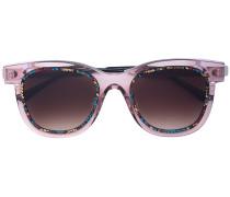 'Savvy' Sonnenbrille mit eckigem Gestell