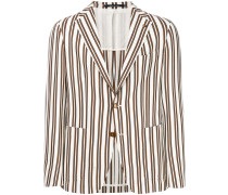 unstructured striped jacket