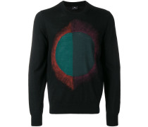 Pullover mit abstraktem Motiv