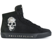 hi top skull sneakers