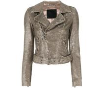 glitter biker jacket