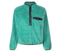 Henley-Sweatshirt aus Plüsch