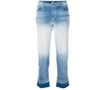 Cropped-Jeans mit Farbverlauf