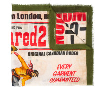 cowboy theme printed scarf