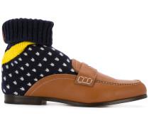 Loafer mit Strumpfeinsatz