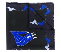 Schal mit Hand-Print