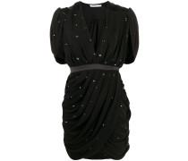 Minikleid mit drapiertem Ausschnitt