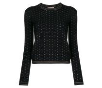 Schmaler Pullover mit Nieten