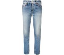 Bestickte Skinny-Jeans