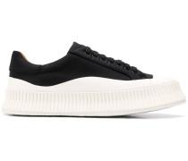 ridged low-top sneakers